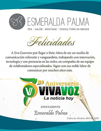 ESMERALDA PALMA FELICITACION